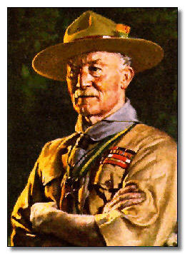 Baden-Powell Founder of Boy Scouts and Neckerchief Slide Fan